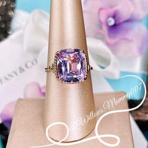 T&Co Tiffany Sparklers 18k Rose Gold Amethyst Ring